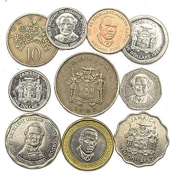 10 Monedas Antiguas DE Jamaica. COLECCIÓN Monedas Caribe Isla ...