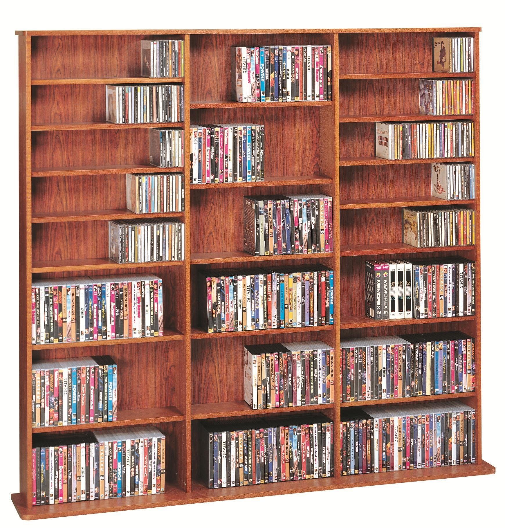 Leslie Dame High Capacity Multimedia Cabinet, Cherry by Leslie Dame