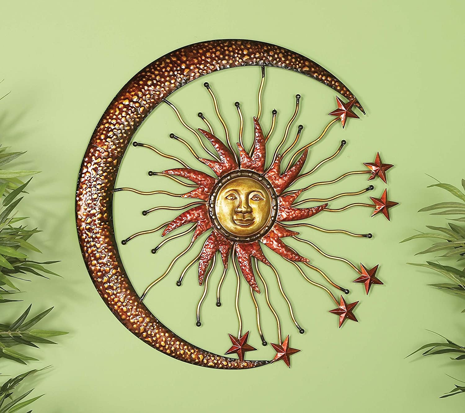 Amazon.com: Deco 79 42770 Metal Sun Moon Wall Decor, 36\