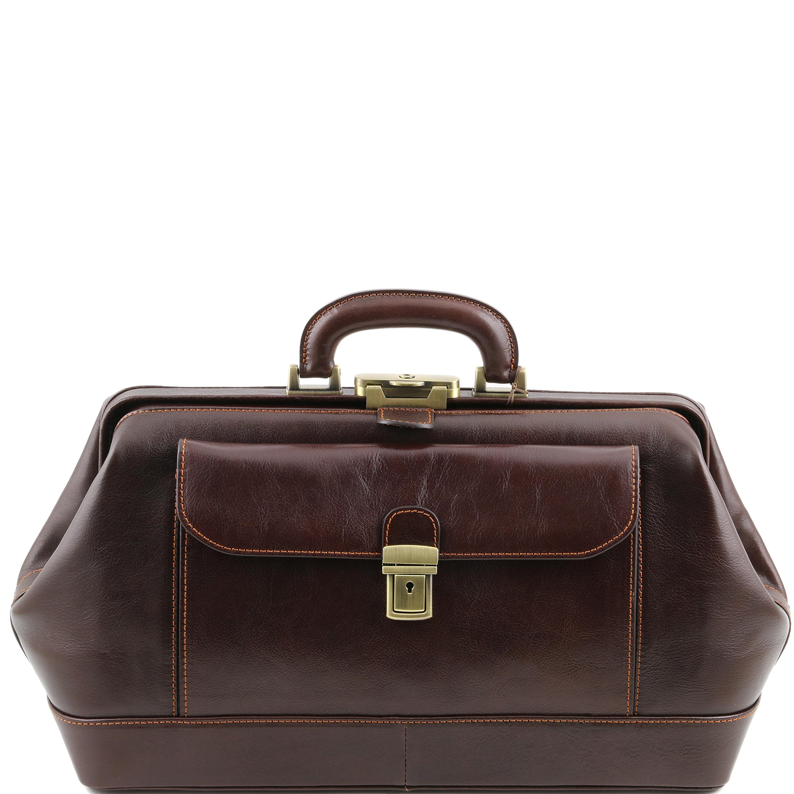Tuscany Leather Bernini Exclusive leather doctor bag Dark Brown