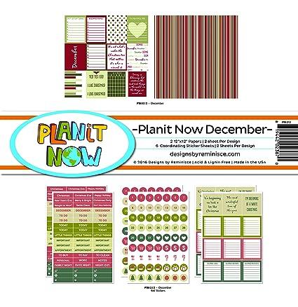 Amazon Reminisce Planit Now December Scrapbook Planner Kit