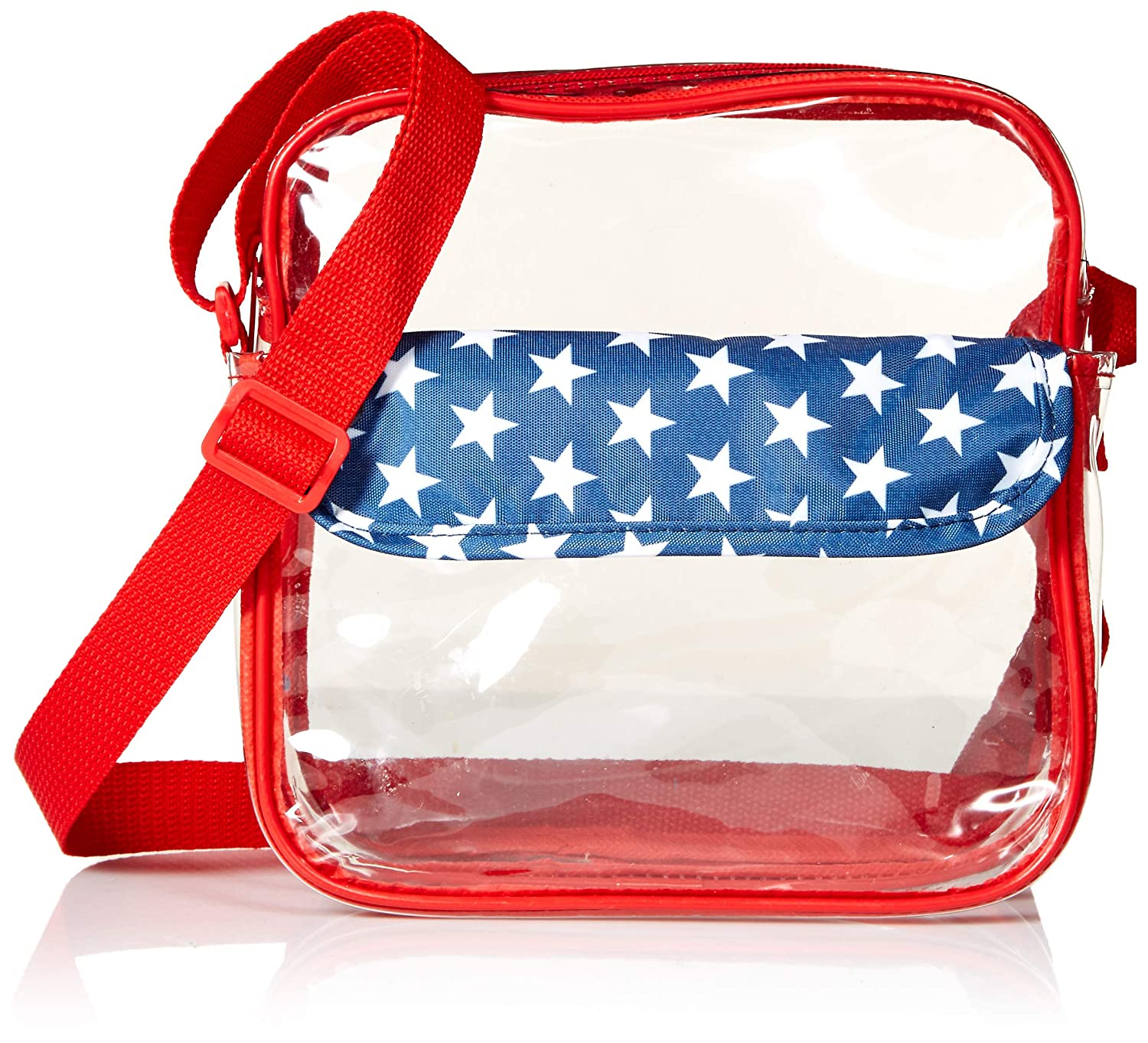 23264f39300 Nova Sport Wear Clear Messenger Bag, NFL Clear Bag Policy Stadium Approved  Tote