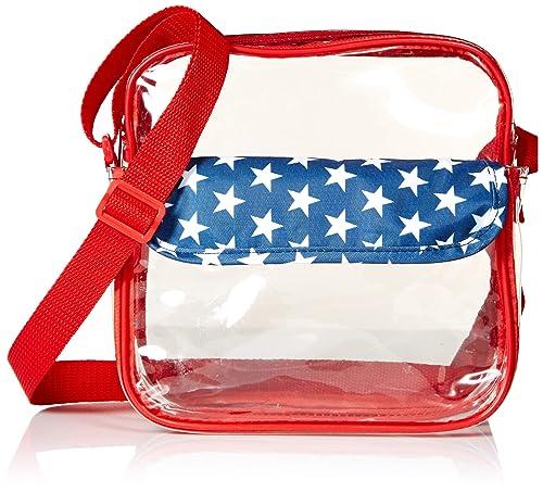 b15e71e46e Event Stadium Approved Clear Messenger Bag Clear Shoulder Bag Transparent  Purse with Adjustable Strap (American