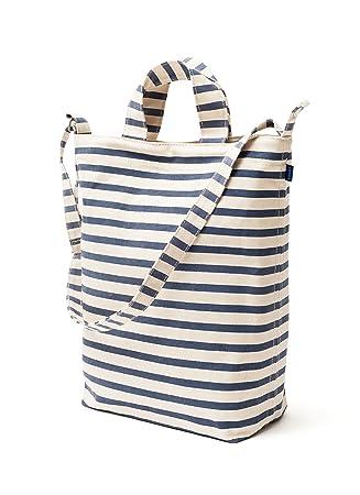 Amazon.com: BAGGU Duck Bag Canvas Tote - Sailor Stripe: Reusable ...