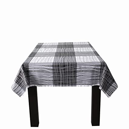 225 & Lavin Tablecloth PVC Wipe Clean Table Cloth Waterproof Oil Cloth Vinyl Table Cover Rectangle Oilproof Satin-Resistant Home Decoration (Stripe 55x79 ...