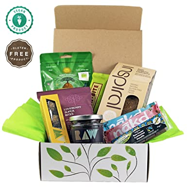 Raw vegan gluten free hamper gift box amazon grocery raw vegan gluten free hamper gift box negle Image collections