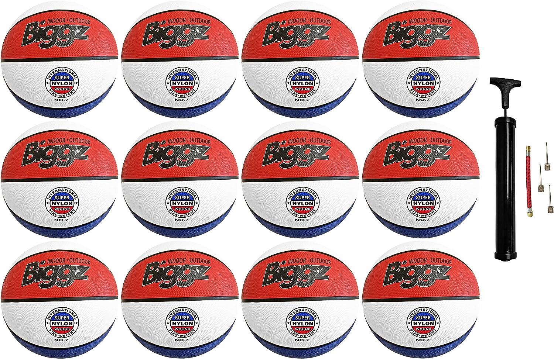 Biggz - Bolas de Baloncesto (Goma, 12 Unidades), Color Rojo ...