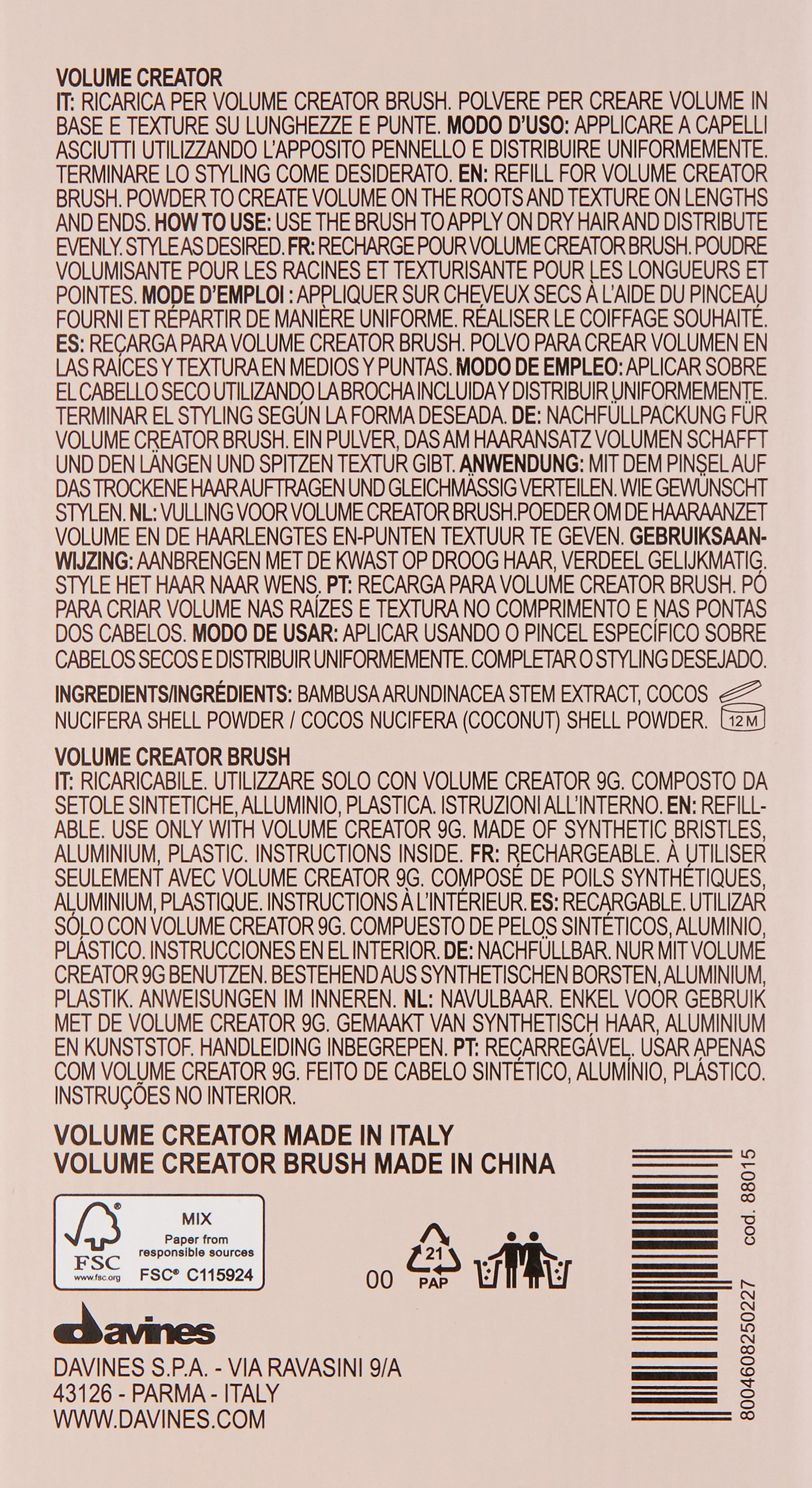 Davines Duo Pack, Your Hair Assistant Volume Creator and Brush by Davines (Image #2)