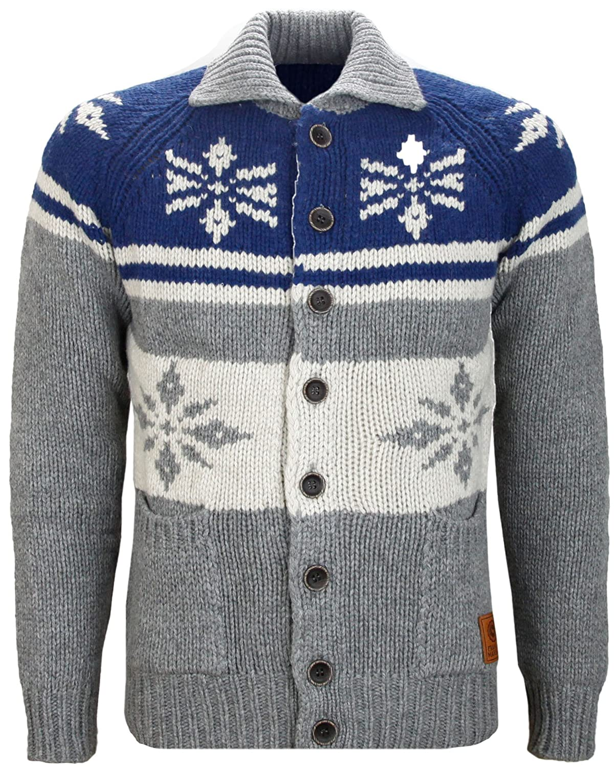 Franklin & Marshall Button Cardigan Wool Knitted Jumper
