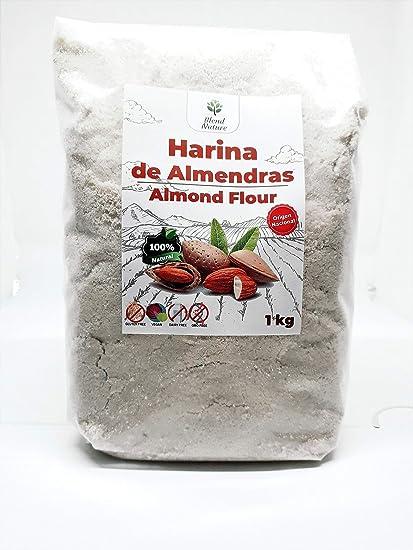 Harina de Almedras 1Kg – Ideal para Reposteria – Sin Gluten – 100% Natural y de Origen Nacional – No Transgenica – Molida Fina - Vegana