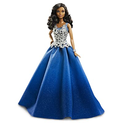 Mattel Barbie dgx99–2016 Holiday Barbie en robe bleue