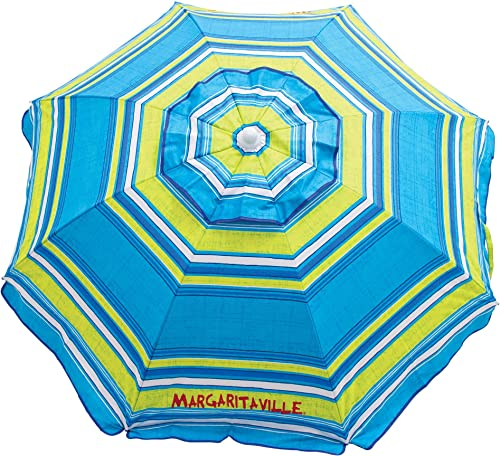 Margaritaville 6-Foot UPF 50 Beach Umbrella with Built-in Sand Anchor