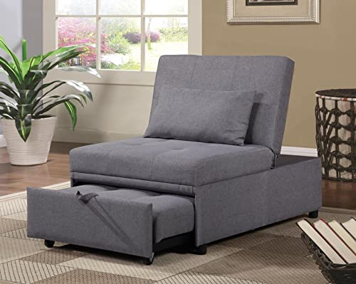 Home Source U-9000-CH Convertible Chair, Grey