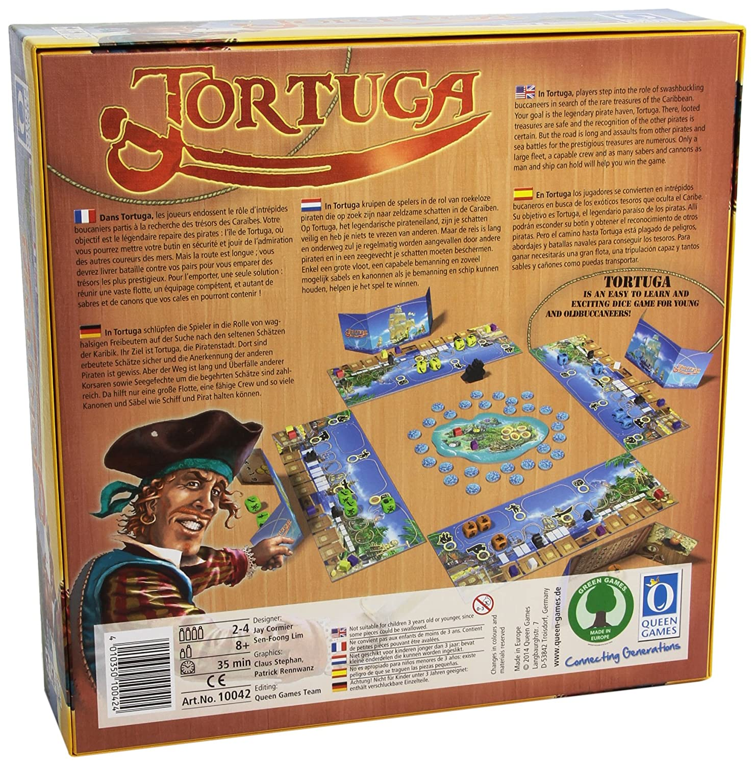 Queen Games Tortuga Board Game Publisher Services Inc PSI 10042QNG