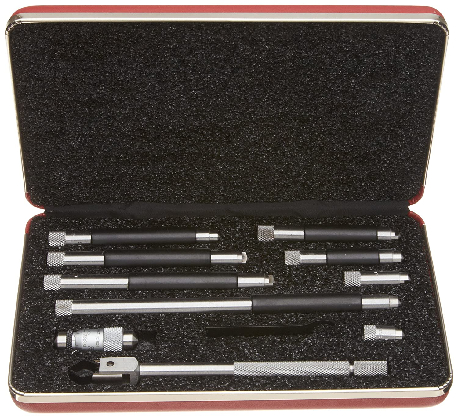 1.5-12 Range Starrett 823BZTCAL Tubular Vernier Inside Micrometer Set 0.001 Graduation -0.0001 Accuracy with a NIST-Traceable Calibration Certificate with Data