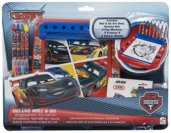 Disney cars deluxe roll and go art activity set kids drawing