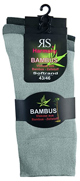 "3 Pack _ Harmony viscosa calcetín bambú "" 3 verschiedene Silbertöne"