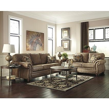 Flash Furniture Signature Design By Ashley Larkinhurst Living Room Set In  Earth Faux Leather