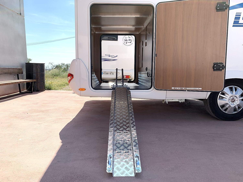Portamotos Universal Ajustable con rampa autocaravanas y Campers