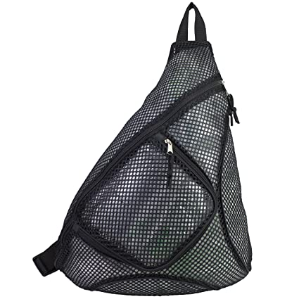 6131c51881 Image Unavailable. Image not available for. Color: Eastsport Sporty Mesh  Trap Single Strap Backpack ...
