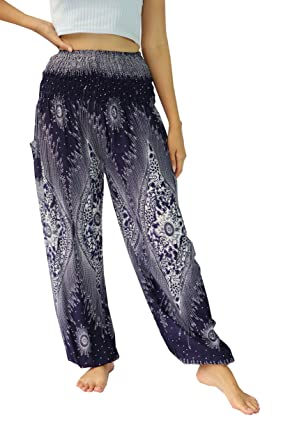 NaLuck Womens Boho Hippie floral peacock Jumpsuit Rayon ...