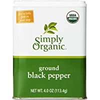 Simply Organic - 碎黑胡椒 - 4盎司