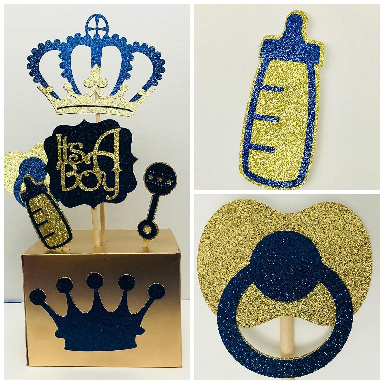 Awe Inspiring Royal Prince Baby Shower Centerpiece Boys Royal Blue And Gold Baby Shower Centerpiece Prince Baby Shower Themes And Decorations Beutiful Home Inspiration Xortanetmahrainfo