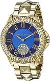 Vince Camuto Women's VC/5160BLGB Swarovski Crystal Accented Gold-Tone Pyramid Bracelet Watch