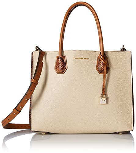 753a865696d56d Image Unavailable. Michael Kors Mercer Large Pebbled Leather Accordion Tote-  Oat