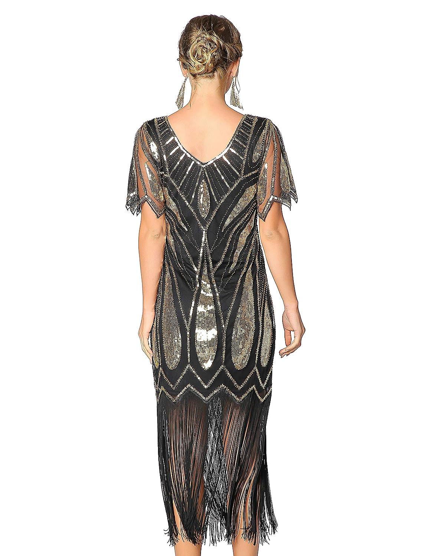 Amazon.com: Metme vestido de encaje con lentejuelas para ...