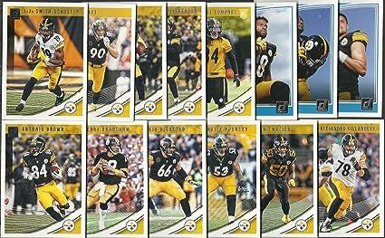 1f5dd39e471 2017   2018 Panini Donruss Football Pittsburg Steelers 2 Team Set Lot Gift  Pack 28 Cards