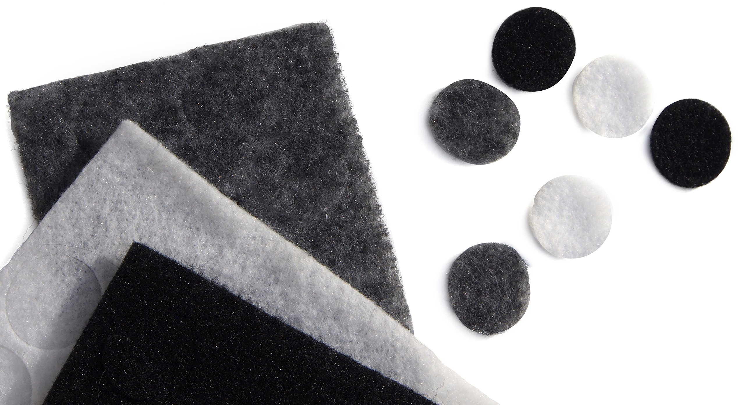 Rycote 065504 Undercover with Stickies and 30 Fabric Discs for Lavalier Microphones, 10 of Each Black/Grey/White
