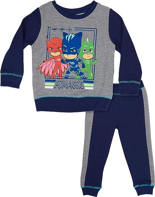 PJ Masks - Conjunto de suéter y pantalón de chándal para bebé con diseño de Gato, Gekko y Owlette