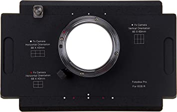 Fotodiox Pro Lens Mount Adapter Compatible with Canon RF Mount Mirrorless Camera Body to Large Format 4x5 View Cameras with a Graflok Rear Standard Shift//Stitch Adapter