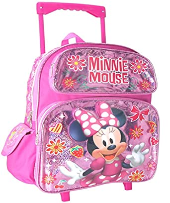 1d9aaf35bf Image Unavailable. Image not available for. Color  Disney Minnie Mouse  12 quot  Rolling Toddler Backpack