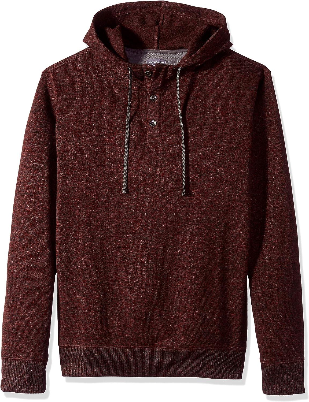 Van 35% OFF Heusen Men's Big Limited price and Tall Sweater Tuck Never Ho Solid Fleece