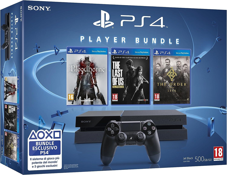 Playstation 4: Console + The Order + Bloodborne + The Last Of Us [Bundle Limited] [Importación Italiana]: Amazon.es: Videojuegos