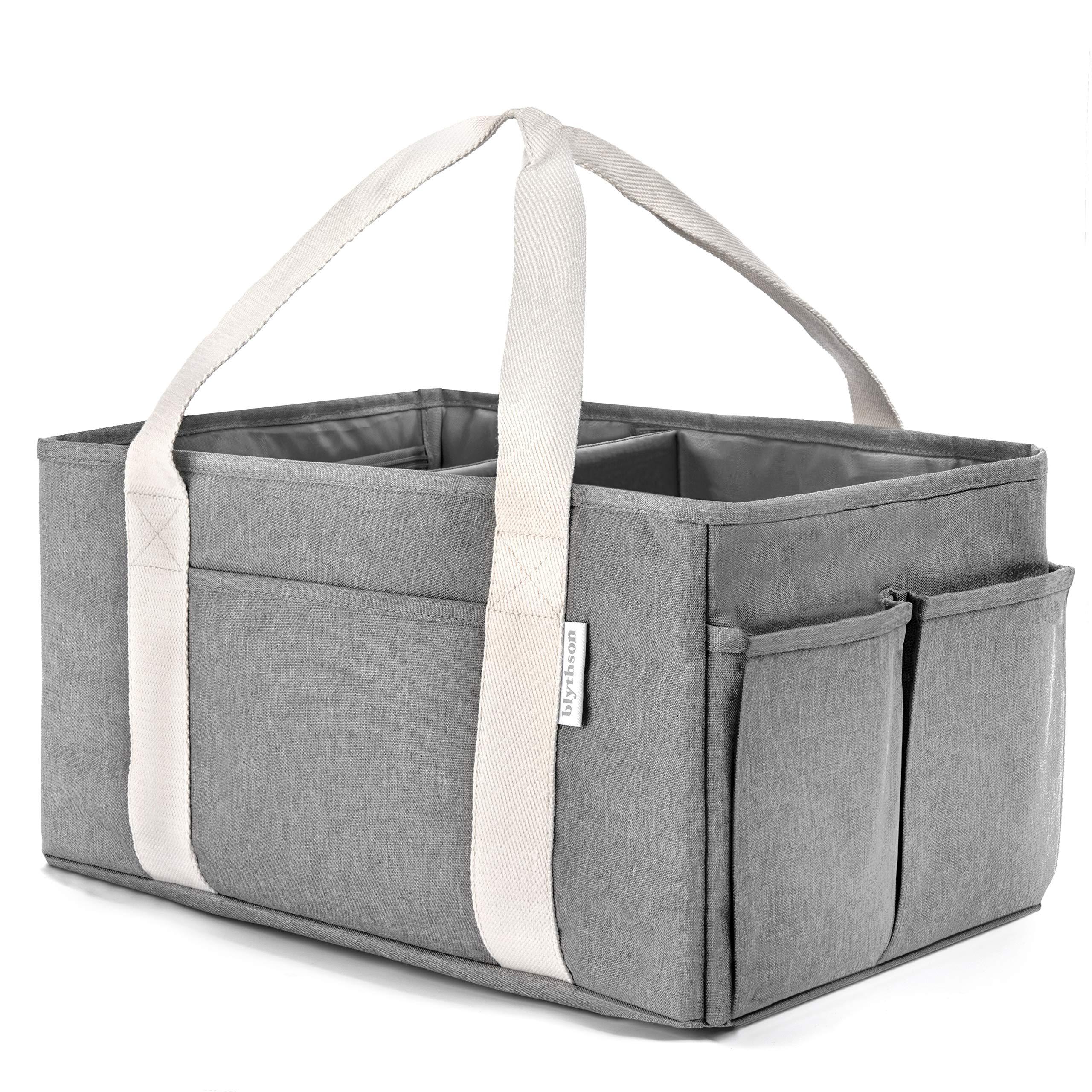 Blythson Baby Diaper Caddy Organizer, Portable Nursery Storage Bin, Grey by Blythson
