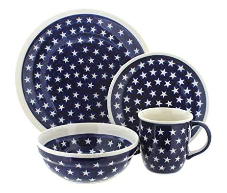 Polish Pottery Stars 16 Piece Dinner Set  sc 1 st  Amazon.com & Amazon.com: Polish Pottery Stars 16 Piece Dinner Set: Dinnerware ...