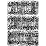 Sizzix 3D Texture Fades Embossing Folder 664760 Typewriter by Tim Holtz One Size, Multicolor