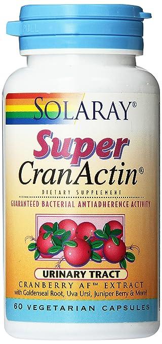 Solaray Super Cranactin Cranberry AF Extract Vegetarian Capsules, 400 mg, 60 Count