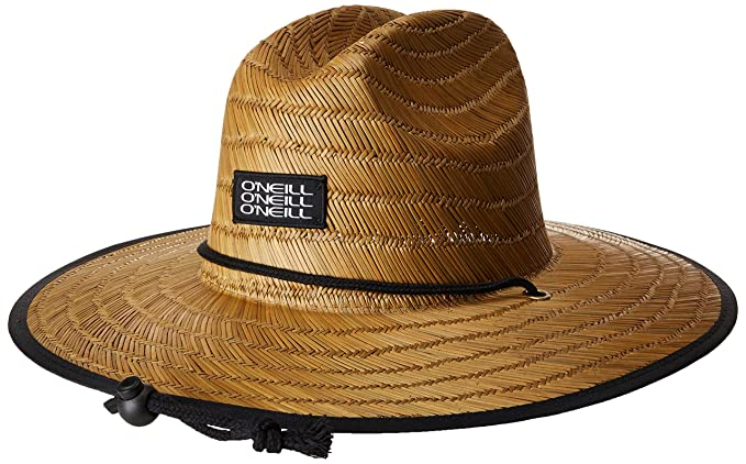 fc1e58d8 Amazon.com: O'Neill Men's Sonoma Print Straw Hat, Brown, ONE: Clothing