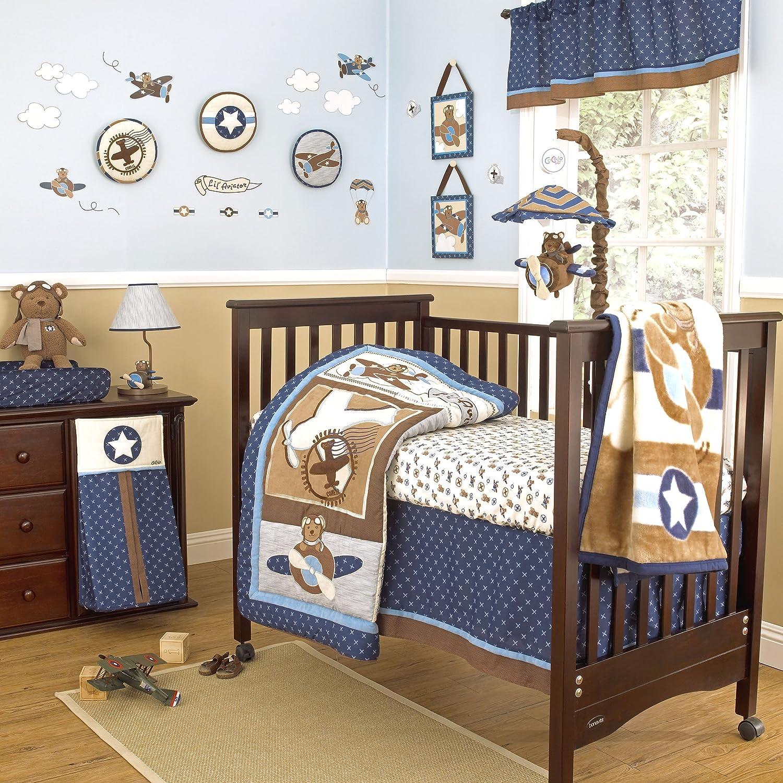Amazoncom Cocalo 8 Piece Crib Bedding Set, Lil Aviator (Discontinued