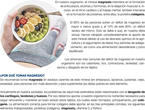 Ana Maria Lajusticia - Cloruro de magnesio – 147 comp. Disminuye el cansancio y la fatiga, mejora el funcionamiento del sistema nervioso. Apto para ...