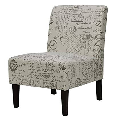 Lovely Cortesi Home Chicco Armless Accent Chair, Script