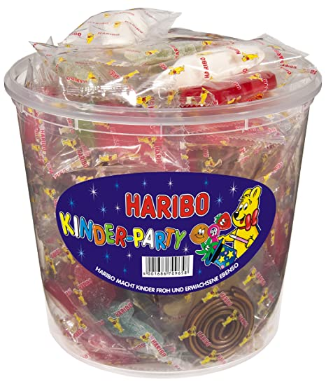 Haribo Kinder-Party, Gominolas de Fruta, Tarro de 850 g ...