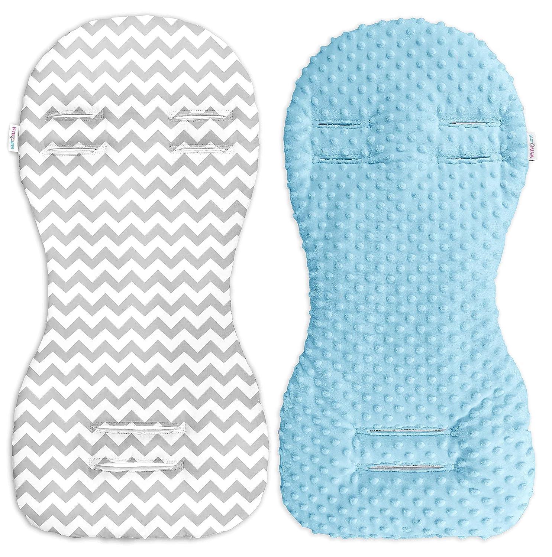 Grey//Grey Stripes Babymam Universal Dimple Liner Pram Stroller Pad 73x35cm