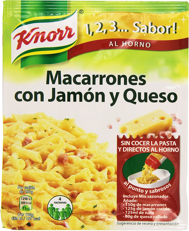 Knorr - Macarrones Jamon Y Queso, 28g: Amazon.es: Alimentación y ...