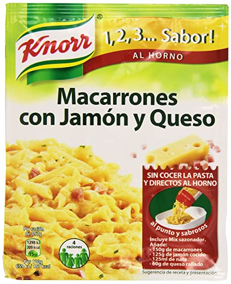 Knorr - Macarrones Jamon Y Queso, 28g