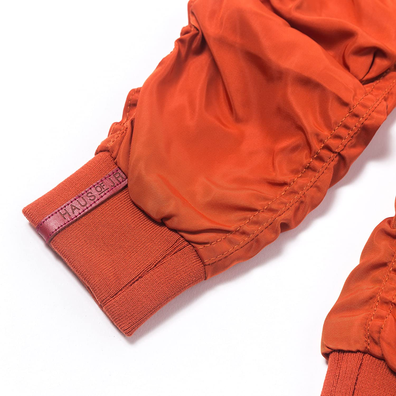 -Unisex Devin Satin Bomber Pant Burnt Orange